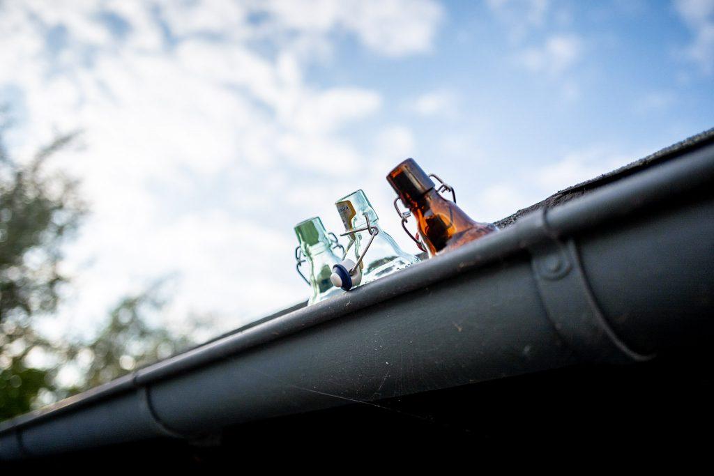 Bier auf dem Dach